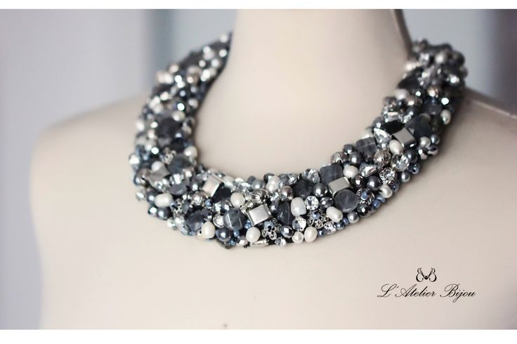 Many shades of grey #statement #jewelry #handmade #custom #design #glam #fashion