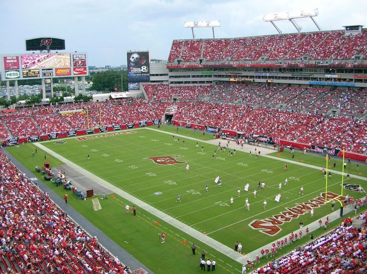 Raymond James Stadium - home of the Tampa Bay Buccaneers...