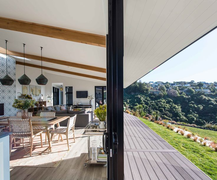 Indoor & outdoor flow at our home in Sumner, Christchurch - captured beautifully by Kate Claridge for Your Home & Garden Magazine