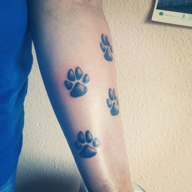 Creative Dog Paw Tattoos: 17 Best Images About Puppy Paw On Pinterest