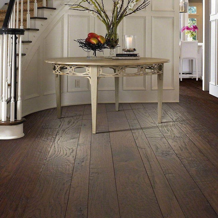 Shaw drury lane chocolate 3 8 in thick x varying width for Shaw hardwood flooring