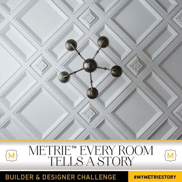 The Metrie Every Room Tells A Story – 2016 Builder & Designer Challenge is now in full swing. See how entrant Harmony Builders used our Metrie's French Curves Collection to create a glamorous master bedroom and en-suite.