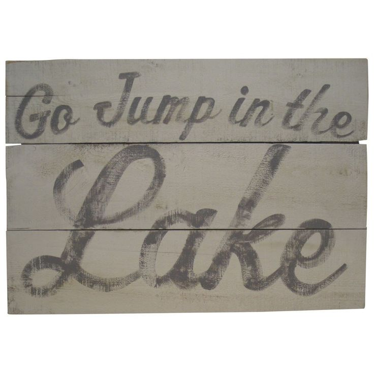 Wall Art - Go Jump in the Lake - High Quality Outdoor and Casual Furniture - Buy online or in Burlington, Mississauga, London, Waterloo,…