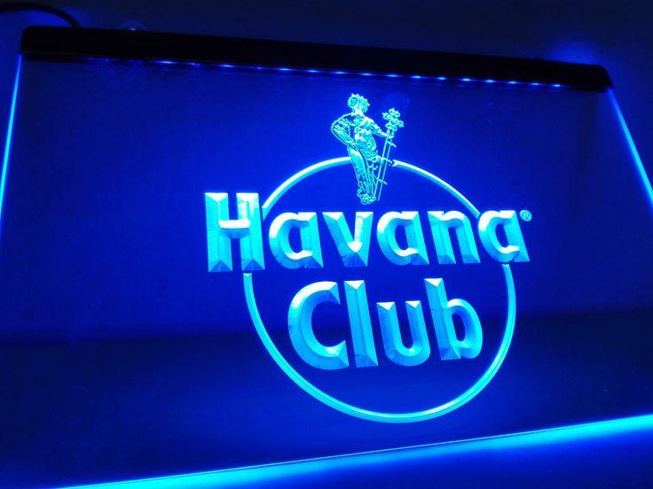 Cute Havana Club Rum Room Home Decor LED Neon Light Sign
