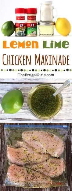 Easy Lemon Lime Chicken Marinade Recipe! ~ from TheFrugalGirls.com ~ add a splash of summer to your chicken any time of year with these delicious citrus marinades! Perfect for grilling!