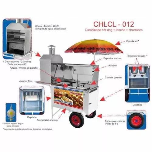 carrinho combo churrasco, lanche e hot dog armon chlcl012