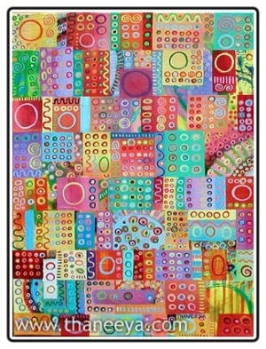 Thaneeya McCardle   #journal #art #abstract #colorful #painting by lea