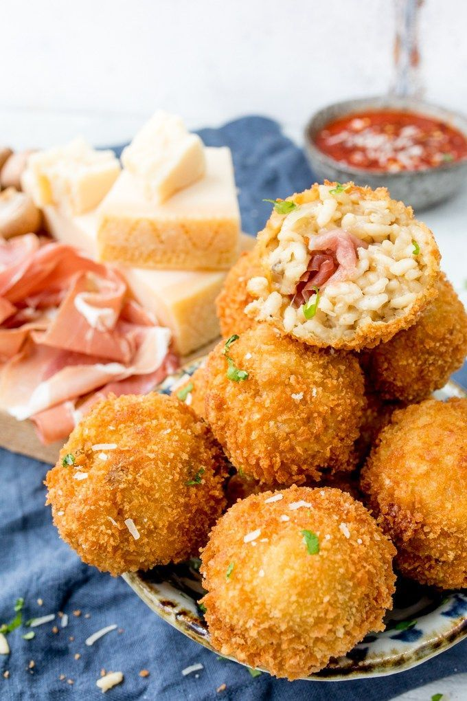 Arancini makes such a great appetiser or party food - these ones are made with creamy Grana Padano Cheese and Stuffed with Prosciutto di San Daniele! #ad