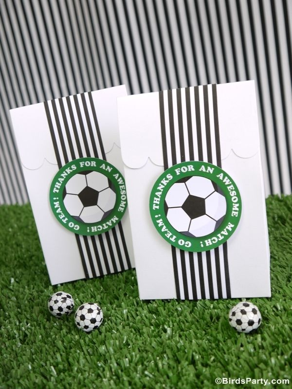 Brazil World Cup: Soccer / Football Inspired Party favors by Bird's Party #football #worldcup #soccer #party #festa #festas #copa #futebol #favors