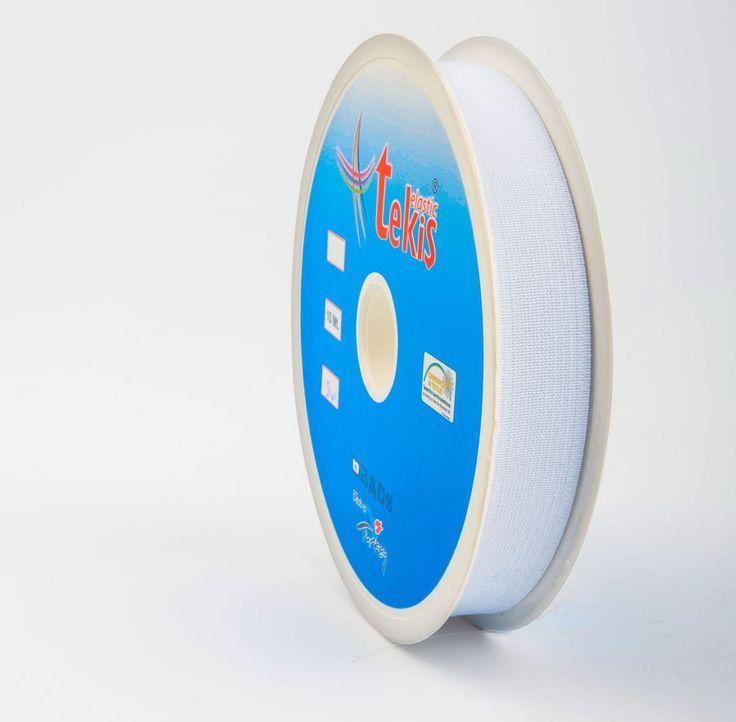 20 mm Elastic Tape / 10 m / White