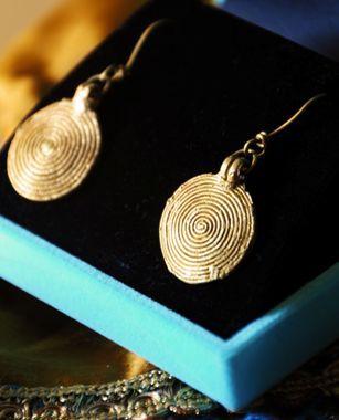 Dhokra earrings- Handmade Dhokra tribal jewellery from Orissa