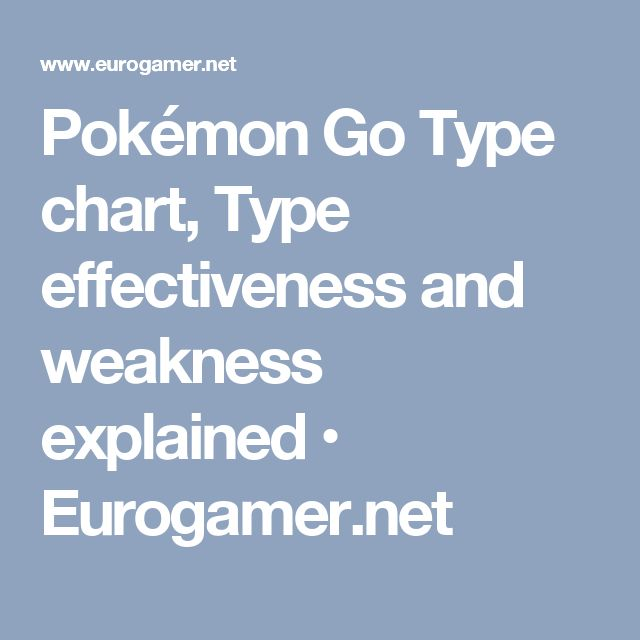 Pokémon Go Type chart, Type effectiveness and weakness explained • Eurogamer.net