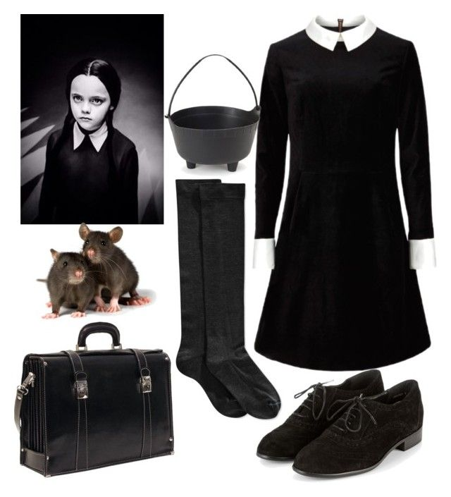 """""""HAlloween series:Adam's family-Wednesday : my halloween costume"""" by elisehart ❤ liked on Polyvore featuring Ted Baker and Hue"""