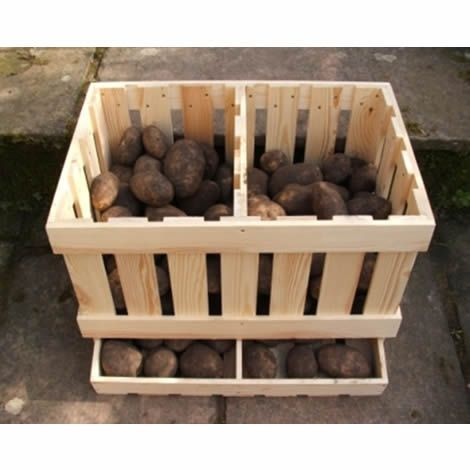 potatoes & onion bins
