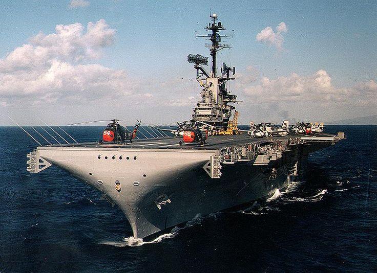 USS Yorktown at sea off of Hawaii, early 1960s