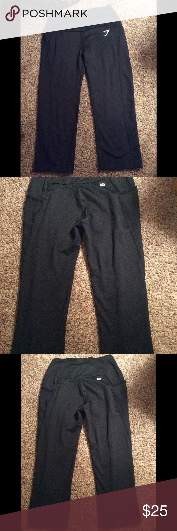 Gymshark Capri pant Gymshark Capri pant with side pockets black small excellent condition. gymshark Pants Capris