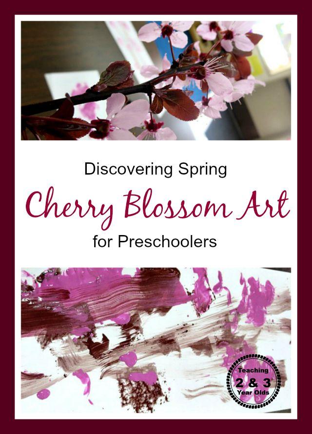 Teaching 2 and 3 Year Olds: Preschool Cherry Blossom Spring Art
