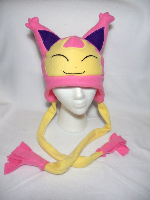 Pokemon Skitty Fleece Hat MADE TO ORDER by Higginstuff on Etsy, $20.00