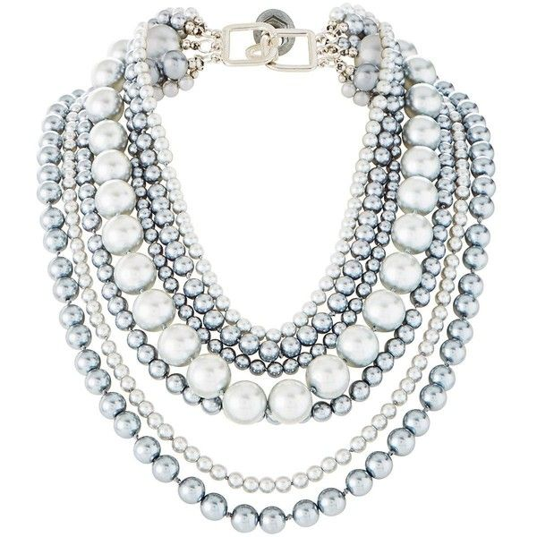 V By Very Statement Pearl Necklace ($34) ❤ liked on Polyvore featuring jewelry, necklaces, pearl jewelry, pearl jewellery, white pearl necklace and pearl necklaces