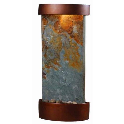 Kenroy Home Lighting Modern Indoor Fountain in Natural Slate with Copper Finish Accents Finish | 53238SL | Destination Lighting