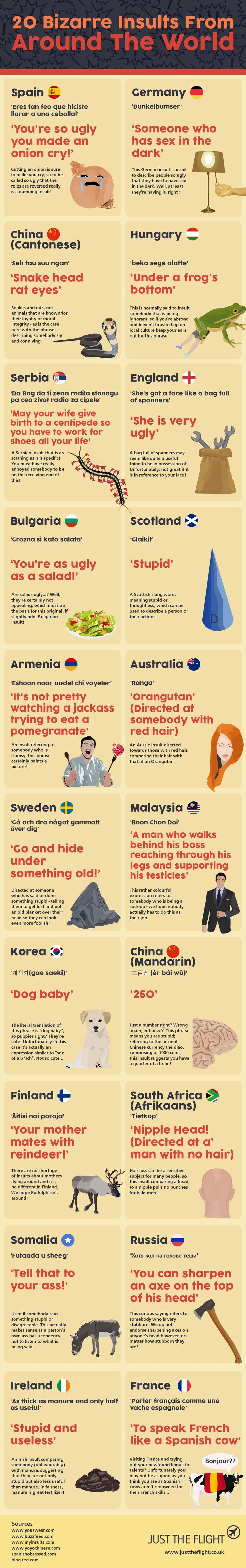 Before you go abroad brush up on your insults!