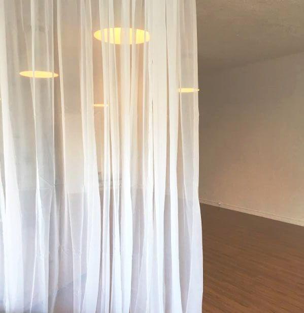 Room Dividing Curtains At A Yoga Studio Roomdividercurtain