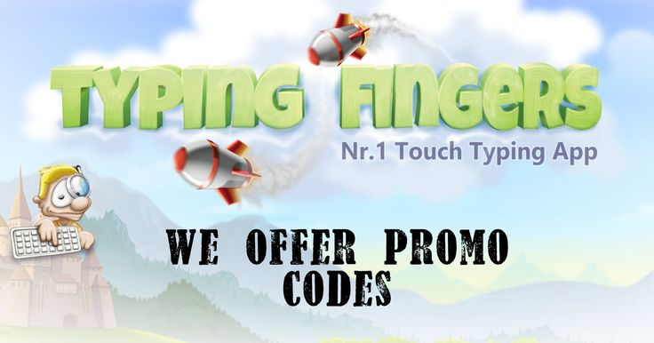 Type learn was never being this much fun. With Typing Fingers, make the typing easy and fun way learning. Now get the promo codes coupons with every single download of paid version of the app. Log onto http://www.typing-fingers.com/promo/ and ask for promo codes coupons today only.