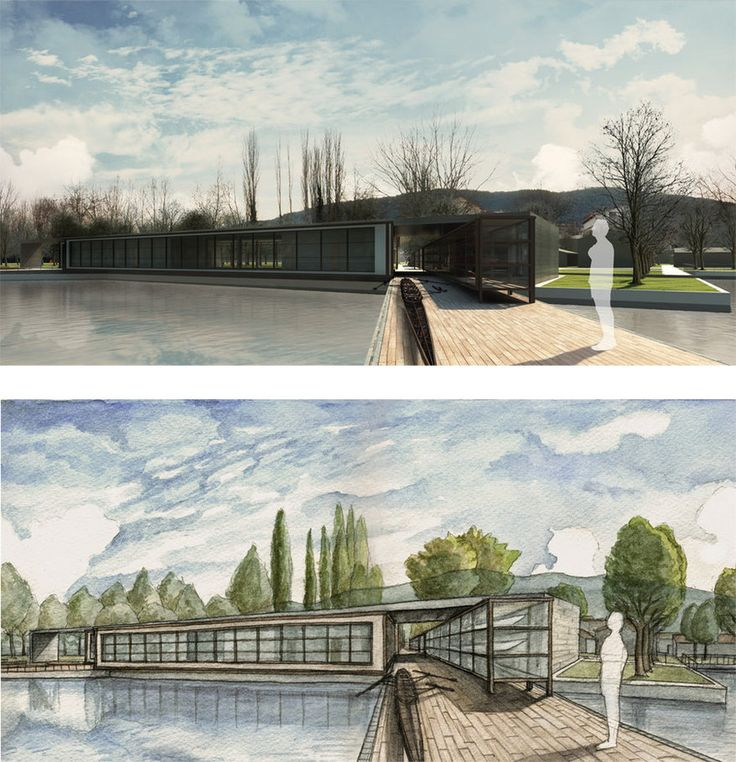 Centro di canottaggio III, rendering + illustrazione (2012) in collaborazione con Cristiano Rossi e Ioannis Vergos