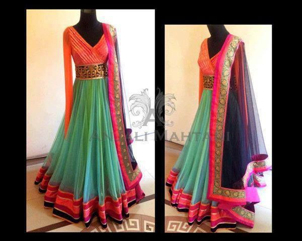 Floor length anarkali. Gorgeous Indian clothing for a wedding