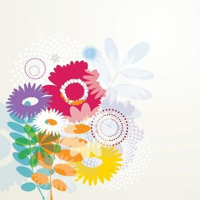 Colorful Abstract Flouring Background