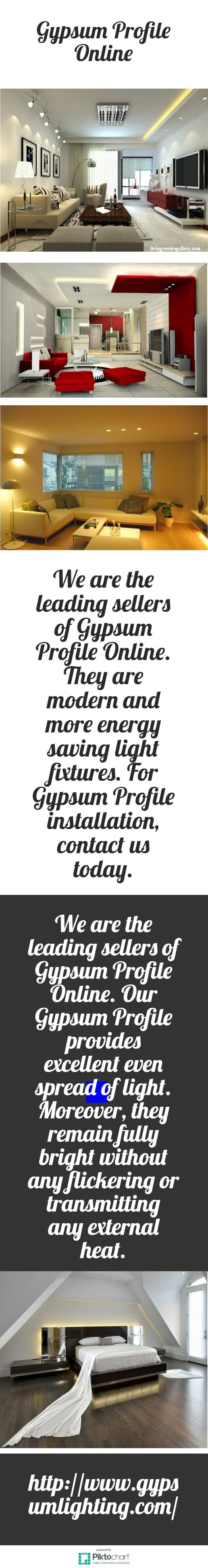 We are the leading sellers of Gypsum Profile Online. They are modern and more energy saving light fixtures. For Gypsum Profile installation, contact us today.  http://www.gypsumlighting.com/
