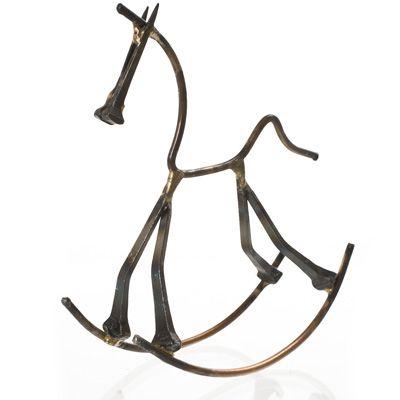 Rocking Horse Nail Art Sculptures Western Decor