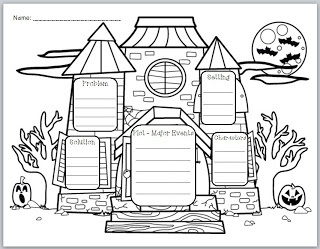 "Classroom Freebies Too: ""Haunted House Story Elements"" Graphic Organizer"