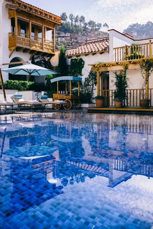 Book a stay at this 5-star hotel at Belmond Palacio Nazarenas in Peru. | Photo Credit: Gal Meets Glam