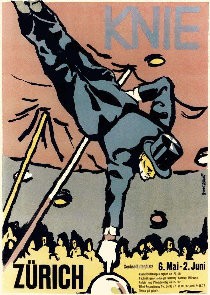 Knie, Cirque Knie, Zürich. Bruno VETTERU (1945 circa)