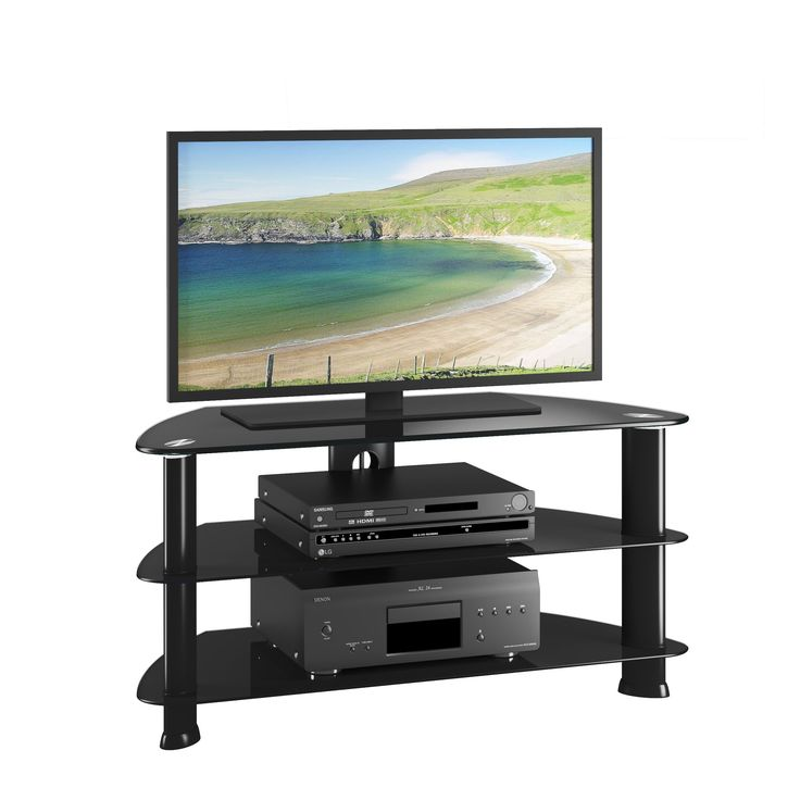 CorLiving TRL-401-T Laguna Satin TV Stand for up to 50-inch TVs