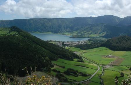 Kings View - sju städerna | azores SpårVandrings spår vid tvillingsjöarna 7km 2 tim