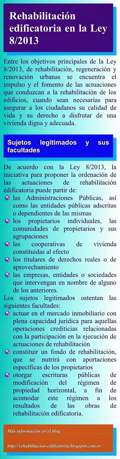 Rehabilitación de edificios: ID01. La Ley 8/2013 y la rehabilitación de edificios