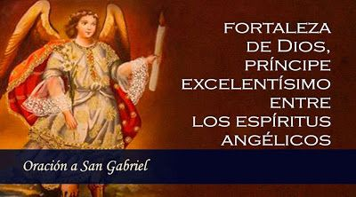 α JESUS NUESTRO SALVADOR Ω: Oración a Gabriel 29 de Septiembre