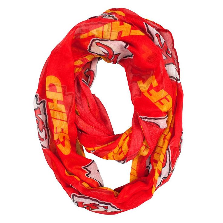 Kansas City Chiefs NFL Sheer Infinity Scarf