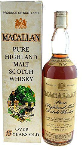 Rarità: The Macallan Whisky annata 1948 original in bottiglia, 0.7l incl. confezioni regalo - Pure Highland Malt Scotch Whisky EURO 5.154,00