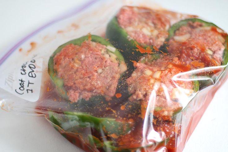 Slow Cooker Stuffed Peppers (Freezer-Friendly!)