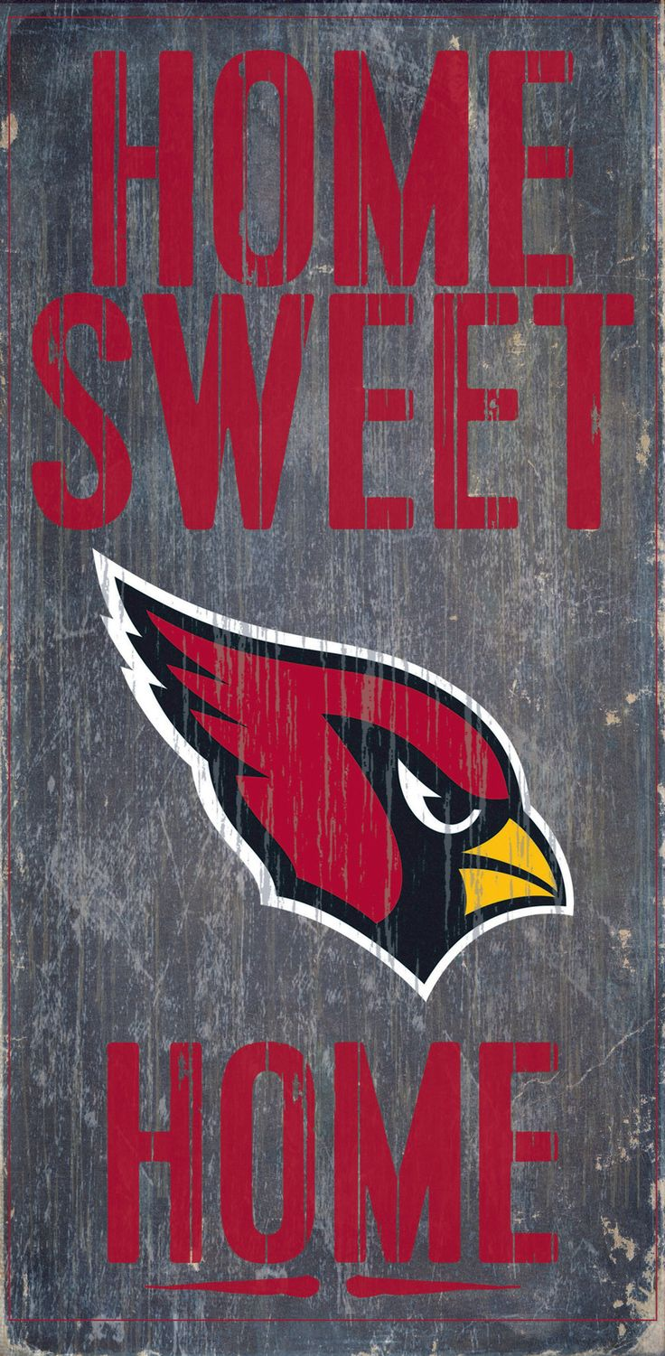 Arizona Cardinals Wood Sign - Home Sweet Home 6x12