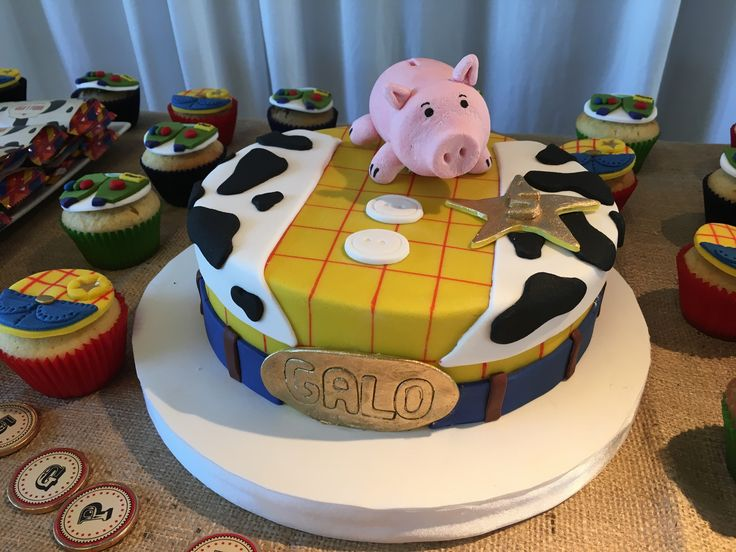 Torta Woody Hamm Toy Story Party