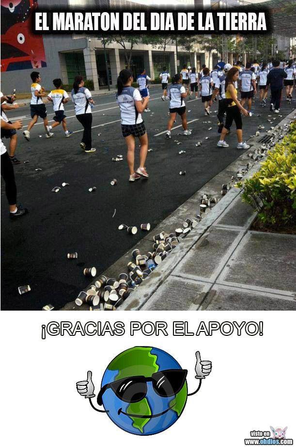 El maratón del día de la Tierra #chiste mas baboso