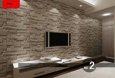 brick effect wallpaper living room - Google Search