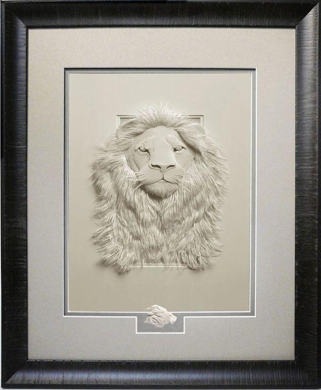 Vea estas esculturas realistas hechas con papel por el artista Calvin Nicholls - paper sculptures