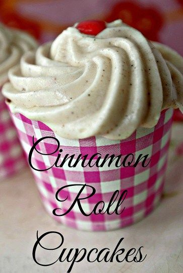 Looking for a Valentine's Day treat to bake at home? Cinnamon Roll Cupcakes via the Prairie Girl Cupcake Cookbook feature delicious cinnamon cream cheese frosting and a moist golden cake #PBGatHome