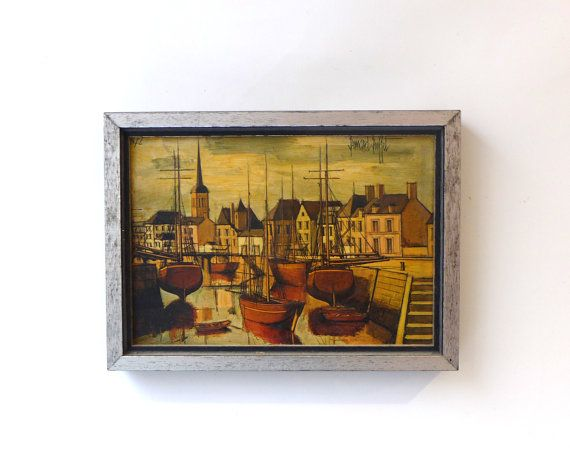 Vintage 1970s collectable Bernard Buffet framed Table by evaelena