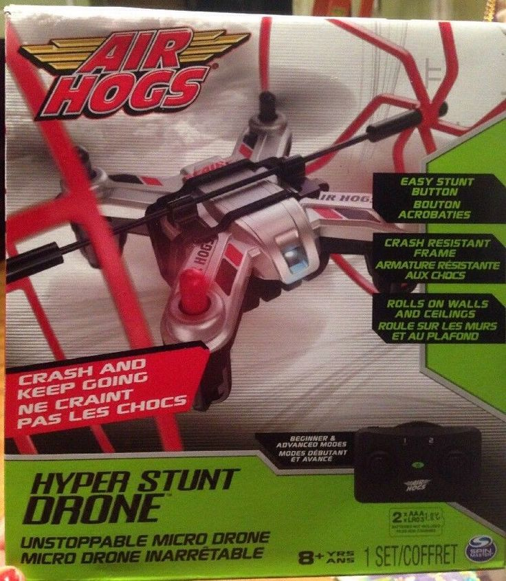 Air Hogs Hyper Stunt Drone - Unstoppable Micro RC Drone - Red Childrens  #AirHogs